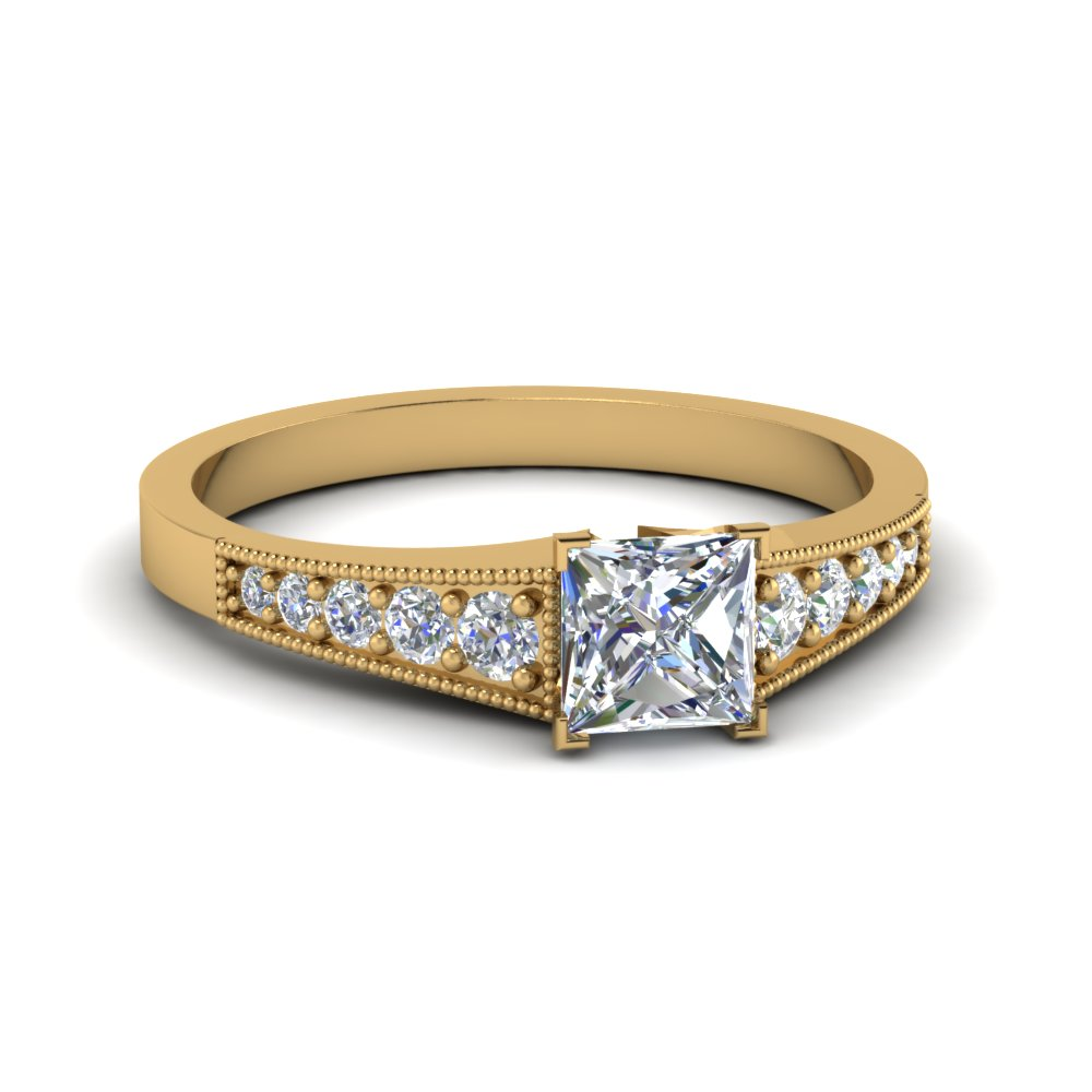 What is a princess cut diamond ring