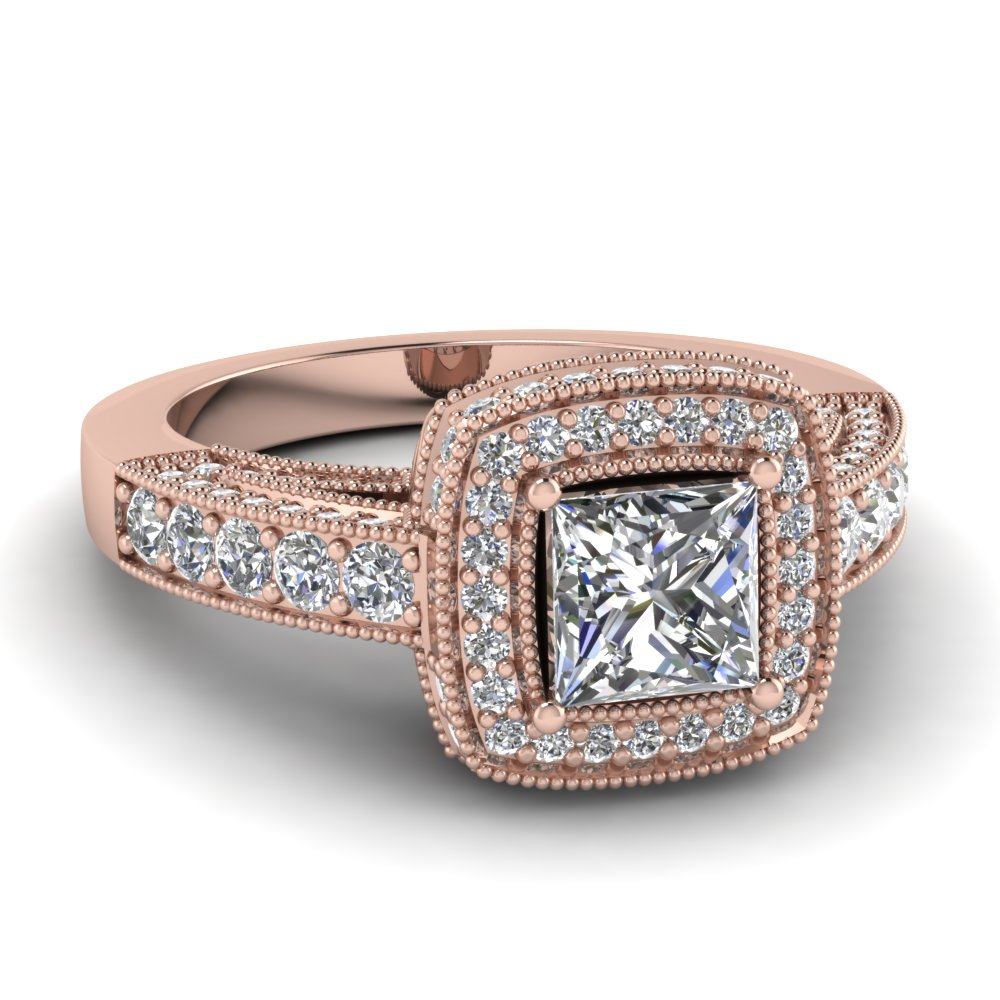 Buy Affordable Vintage Rose Gold Engagement Rings line