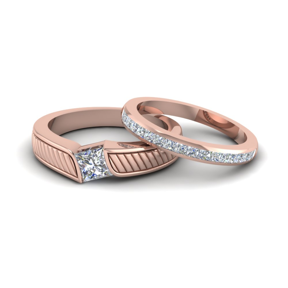 matching wedding bands for him and fascinating diamonds