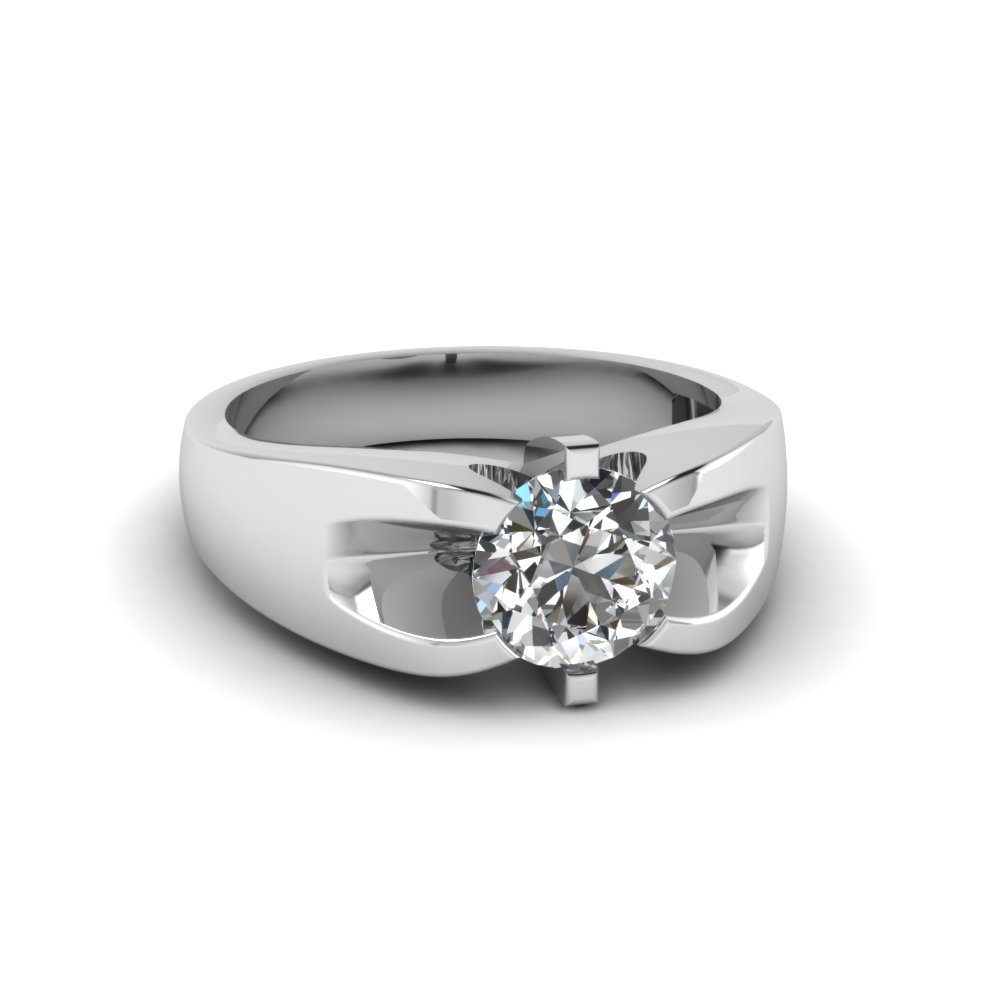 1 carat solitaire mens diamond wedding band