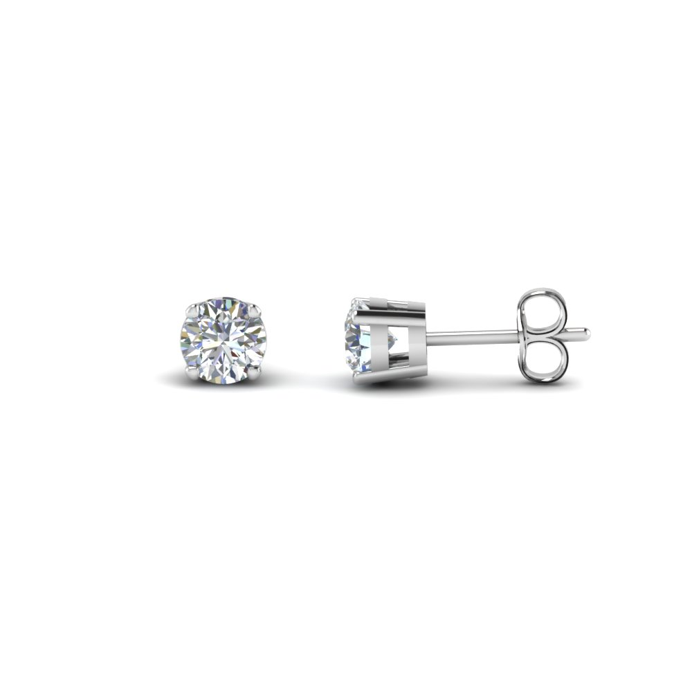 2 Carat Round Diamond Stud Earring