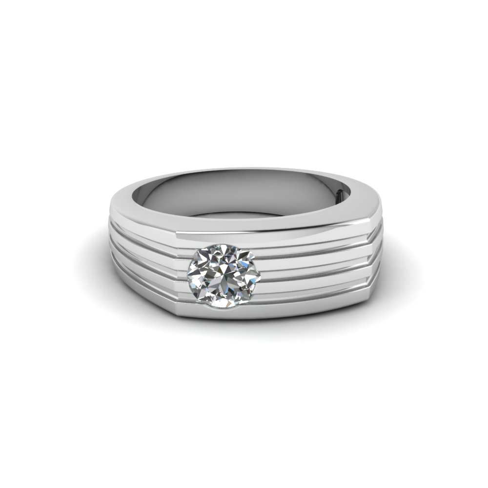 Paralled Lined Diamond Band