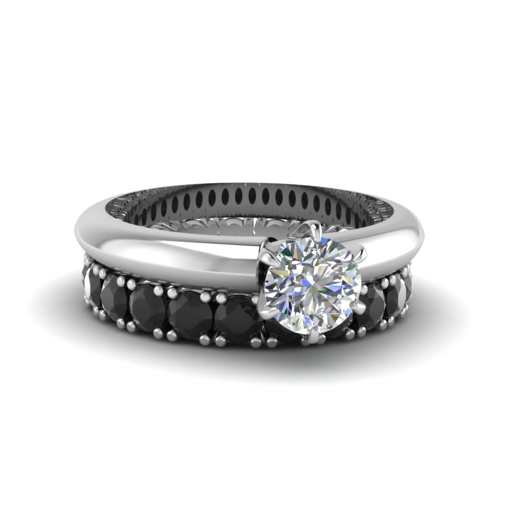Solitaire Anniversary Ring With Eternity Band