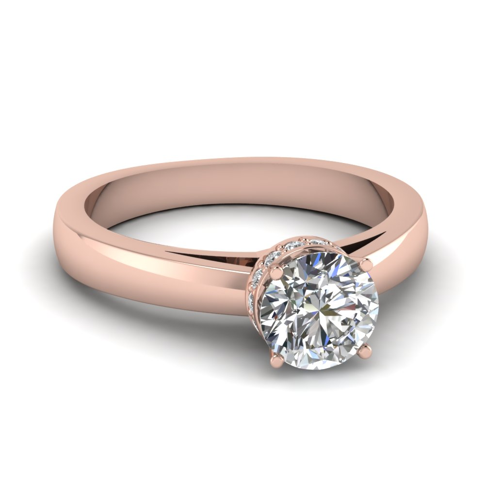 round cut diamond engagement rings fascinating diamonds. Black Bedroom Furniture Sets. Home Design Ideas