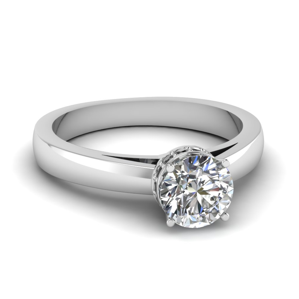 Crown Diamond Engagement Ring