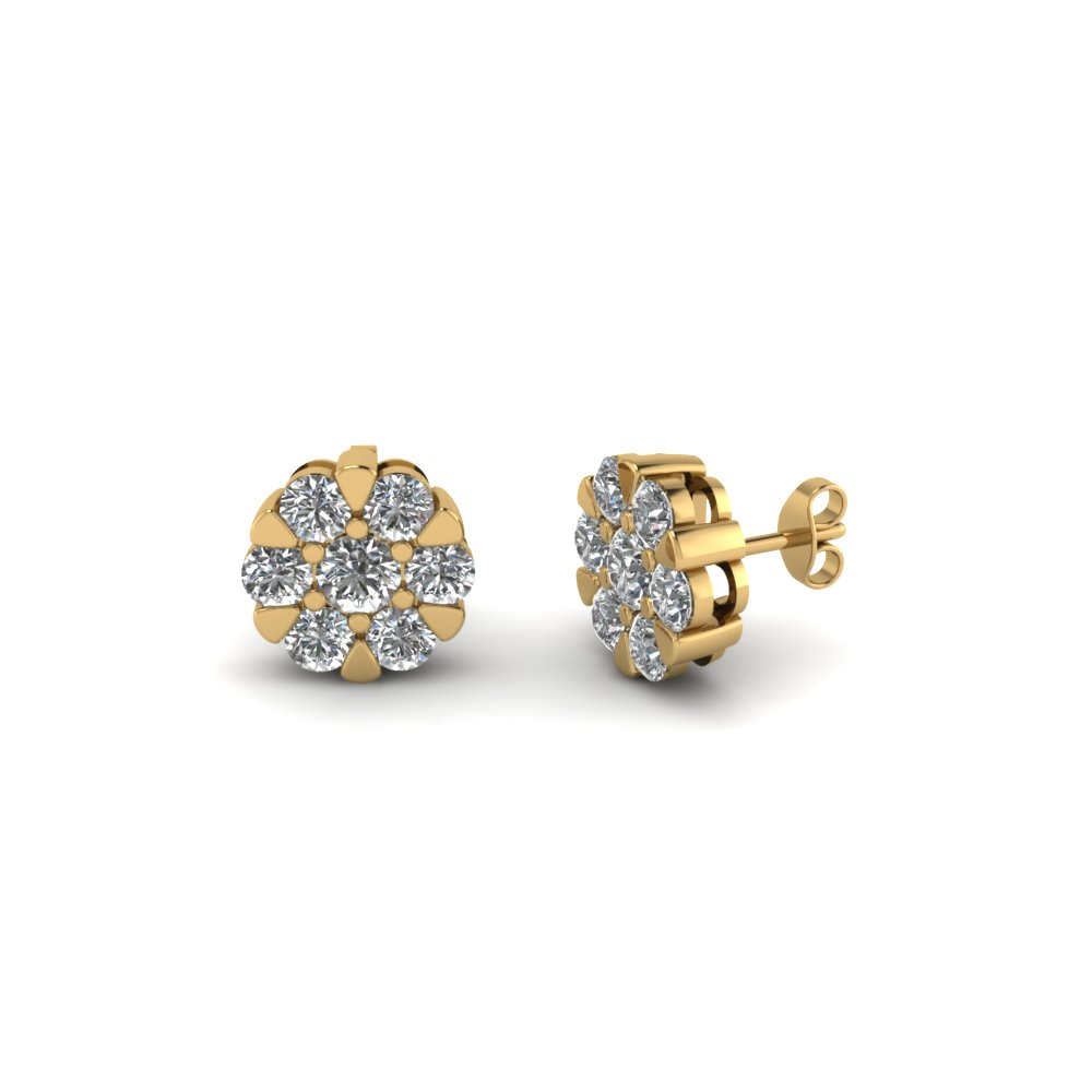 Flower diamond Stud Earring For Women