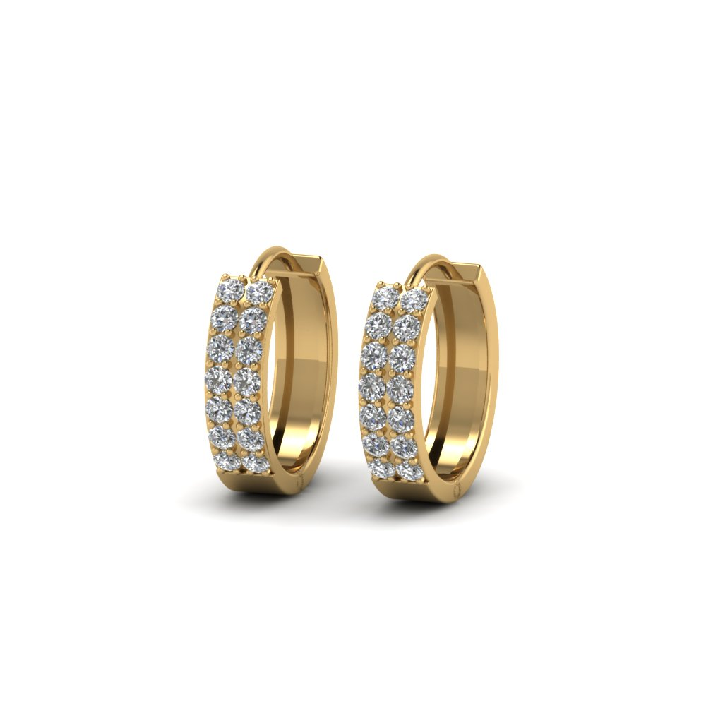 Diamond Wide Hoop Earring