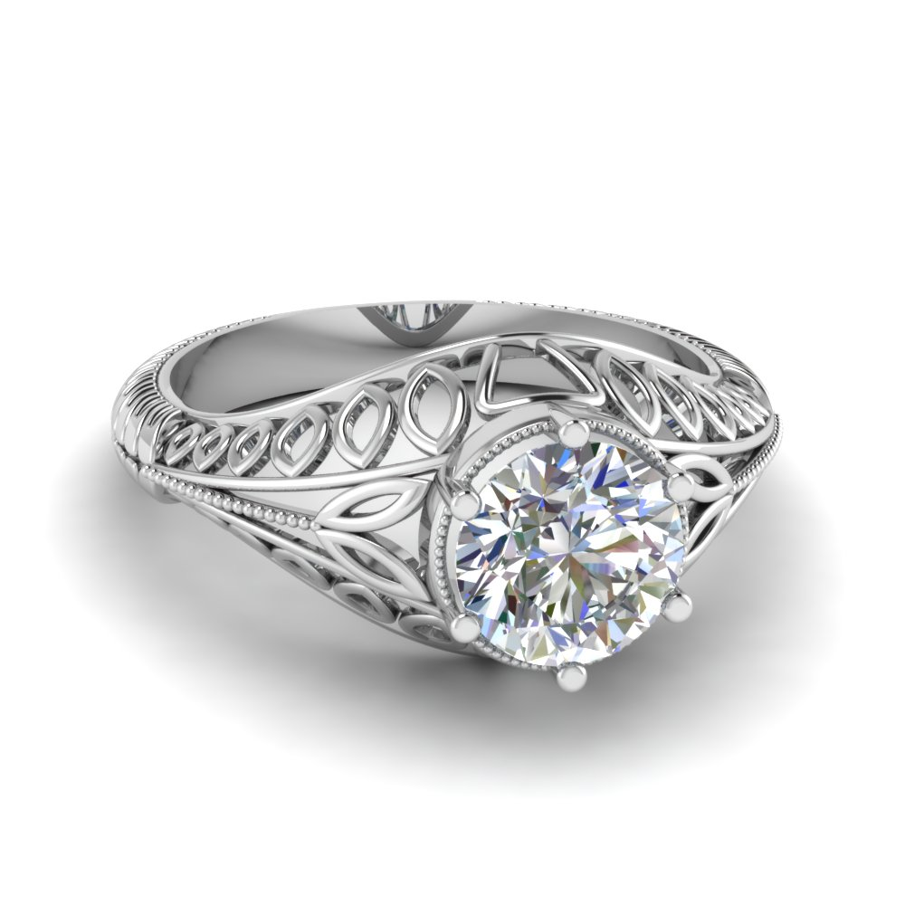 mount diamo custom diamondzone diamond rings crafted setting filligree hand filigree by semi engagement ring art deco made
