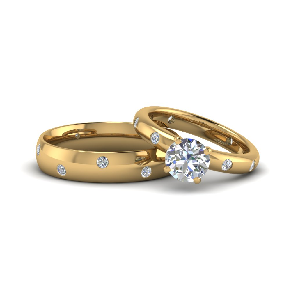 His And Hers Matching Round Diamond Ring