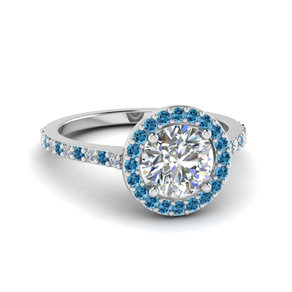 Blue Topaz Engagement Rings Prices
