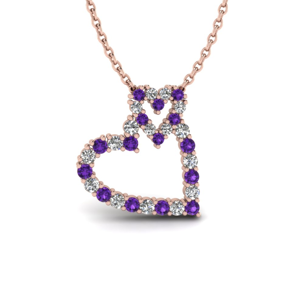 Interlocked Heart Diamond Pendant