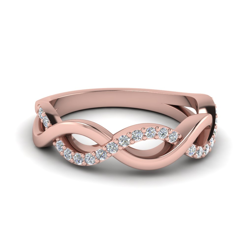 Buy Rose Gold Womens Wedding Band line
