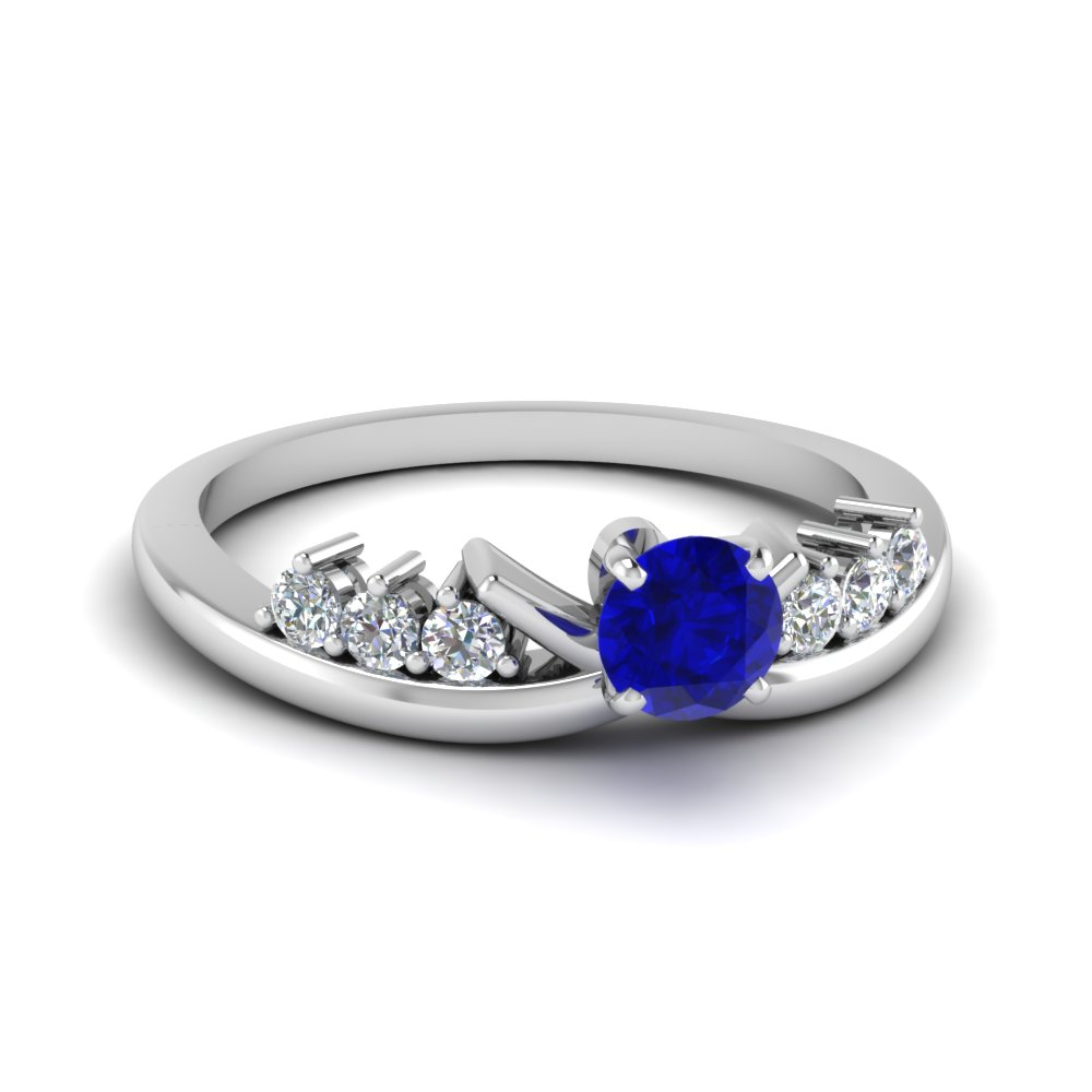 Delicate Sapphire one of a kind gemstone engagement rings