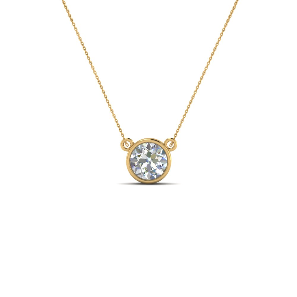 Single diamond pendant necklace
