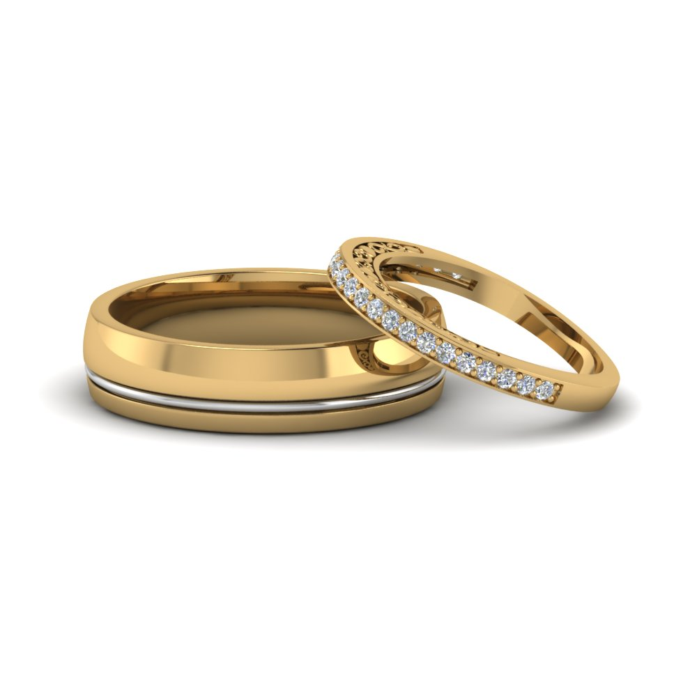 Unique matching wedding bands for him and her for Wedding rings bands