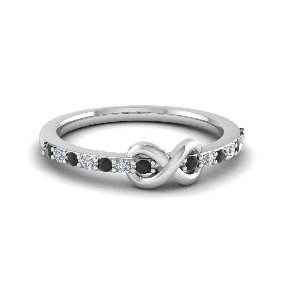 White Gold and Diamond Small Promise Rings