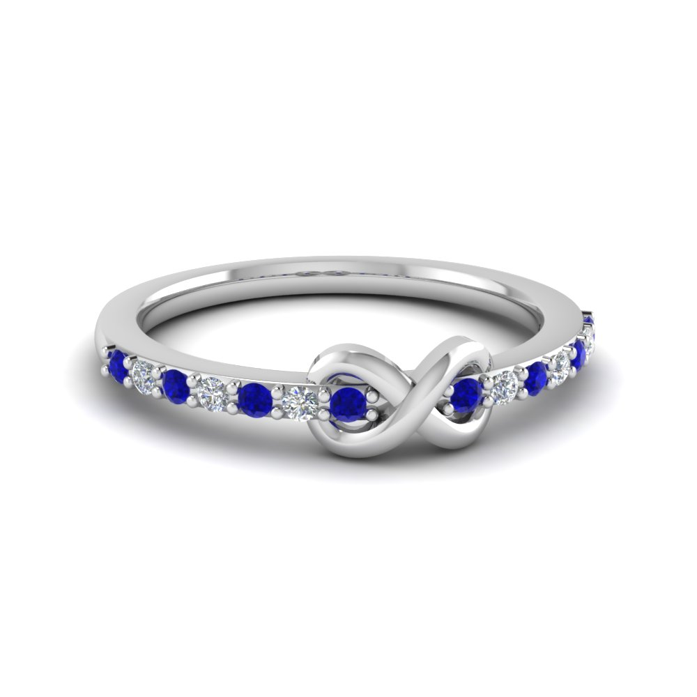 Sapphire And Diamond Infinity Proposal Ring